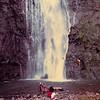 Vaimahuta Falls, Tahiti.