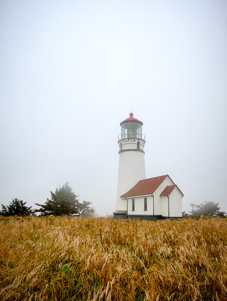 CAPE BLANCO LIGHTHOUSE WITH THE FOG ROLLING IN