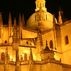 Segovia's Cathedral at midnight.
