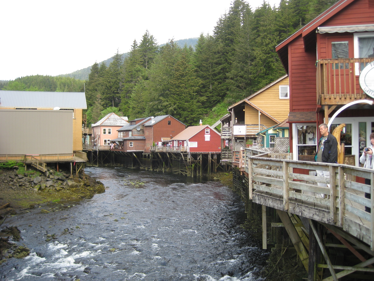 "Creek St in Ketchikan, where the prostitutes were ""banished"" to in the teens.  Didn't slow down the trade at all until things were shut down in 1953."