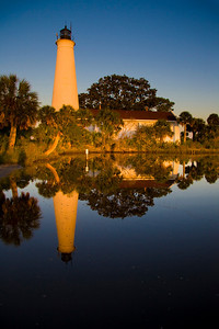 St Marks lighthouse at dawn