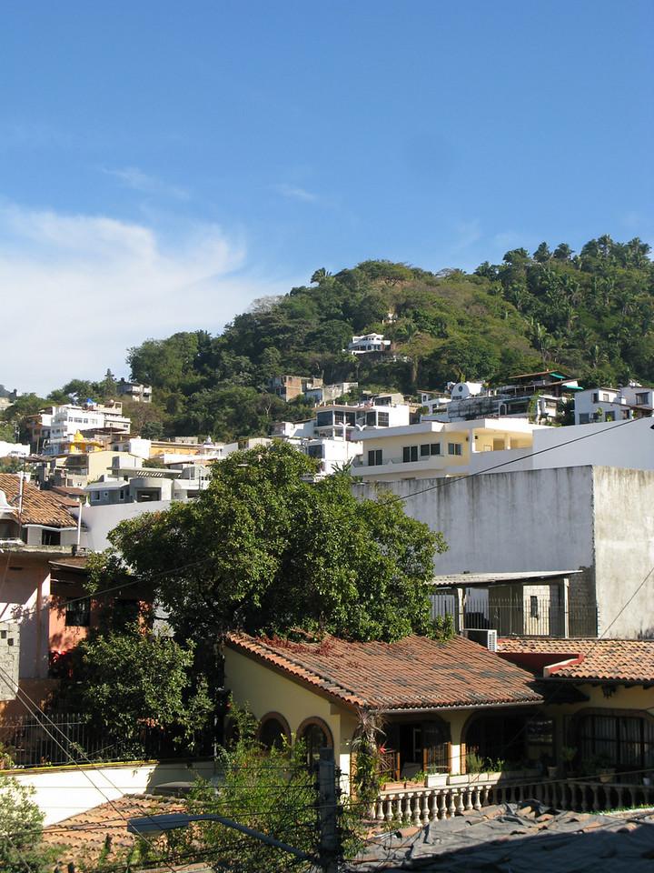 View of the hills behind Puerto Vallarta.