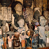 Ancestor images and rice gods in a Toraja shop.