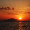 Sunset over Mount Athos