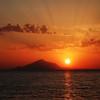 Sunset over Mount Athos