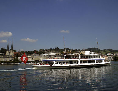 Lucerne -- Boats are a main way of transportation along Lake Lucerne