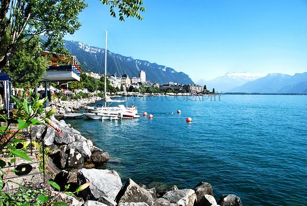 LAKE GENEVA, MONTREUX, SWITZERLAND