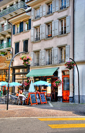 LE CAFE GLACIER-VEVEY, SWITZERLAND