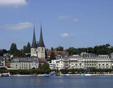 Lucerne -- Hotels along Lake Lucerne