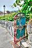 VINEYARD GATE-CHEMIN DU CREYVAVERS, EPESSES, SWITZERLAND