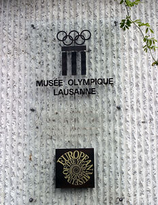Lausanne -- Main entrance to the Olympic Museum