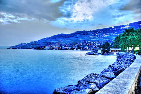 VEVEY, SWITZERLAND-AT DUSK