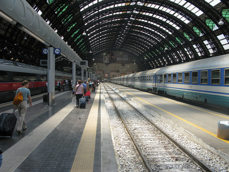 One of many times passing through the Milan train station