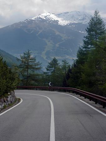 Returning to Bormio on the way down Stelvio