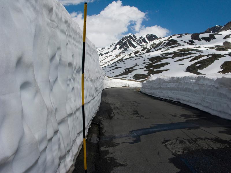 Still a bit of snow left on top of Gavia