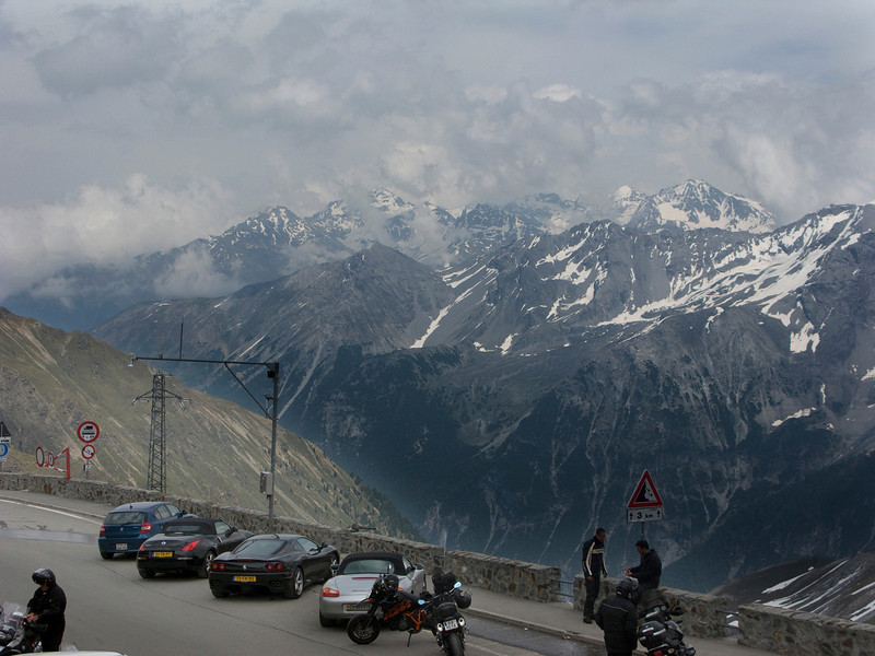 Exotic sports cars and motorcycles outnumber bicycles on Stelvio.  I wonder why?