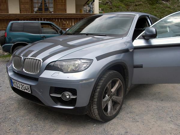 BMW testing hybrid cars (and just having fun) on Stelvio Pass