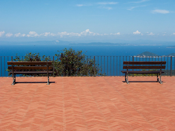 The view of Capri from Elba