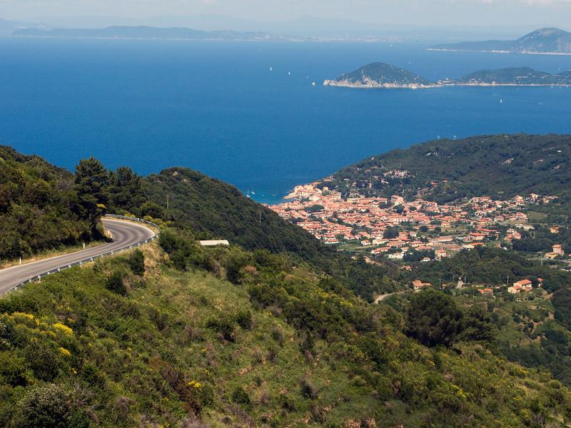 A nice looking road climbing from Marciana Marina to Marciana