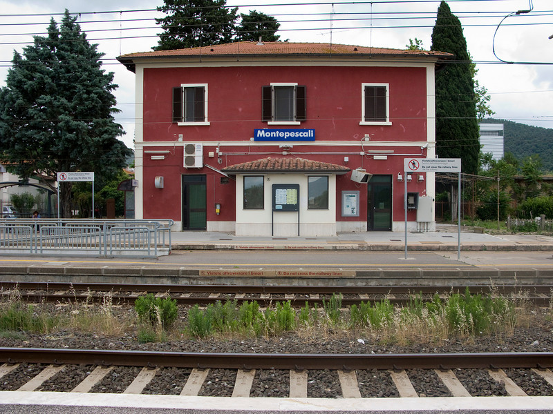 A typical small town train station
