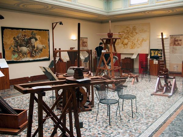"Mechanical models of ""The machines of Leonardo Da Vinci"""