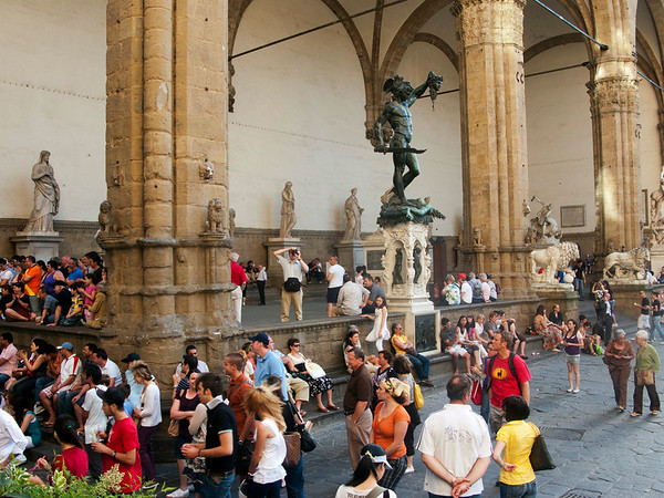 Loggia dei Lanzi - a significant collection of outdoor statues