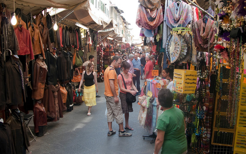 Florence was full of street vendors