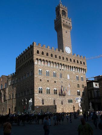 Palazzo Vecchio (town hall) in Piazza della Signoria