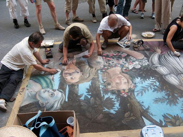 Chalk art on the street