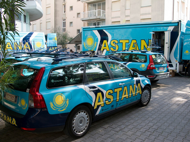 Team Astana's hotel was right around the corner from my hotel
