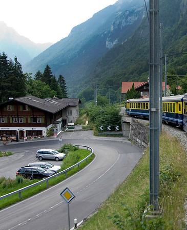 Train from Jungfrau back down to Interlaken