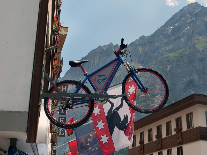 Sign at Eiger bike hotel