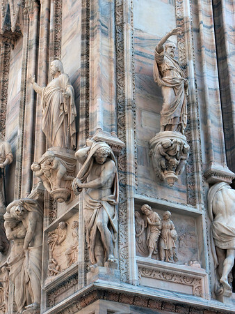 Duomo is covered in statues