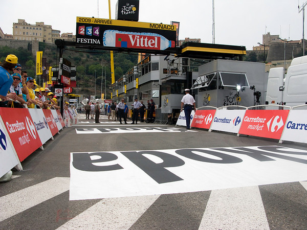 Finish line for Tour de France Stage 1 Time Trial