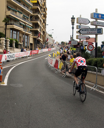 First climb of '09 Tour de France in Monaco.  The hills started about 100 meters from the starting line on a 2,200 mile race.