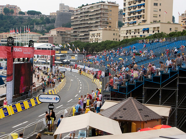 Monaco grand stands for Tour de France Stage 1 Time Trial