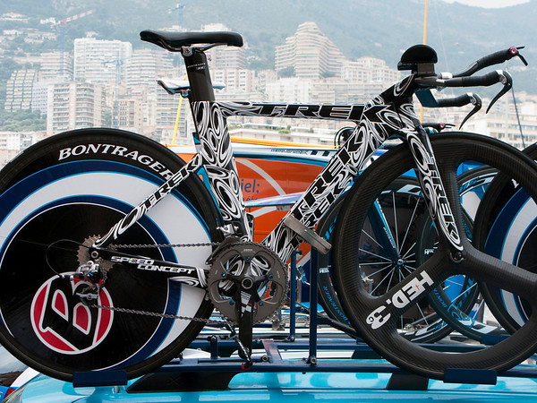 """One of Lance's """"art bikes"""" that will be auctioned off on Oct. 5 for the Armstrong Foundation"""