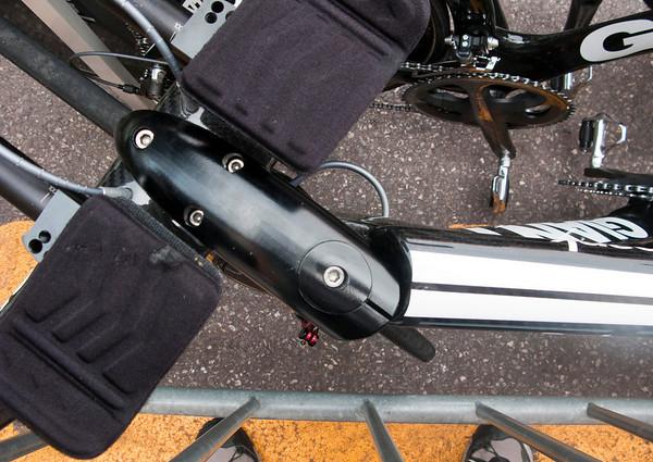 Streamline headset on Rabobank's time trial bikes