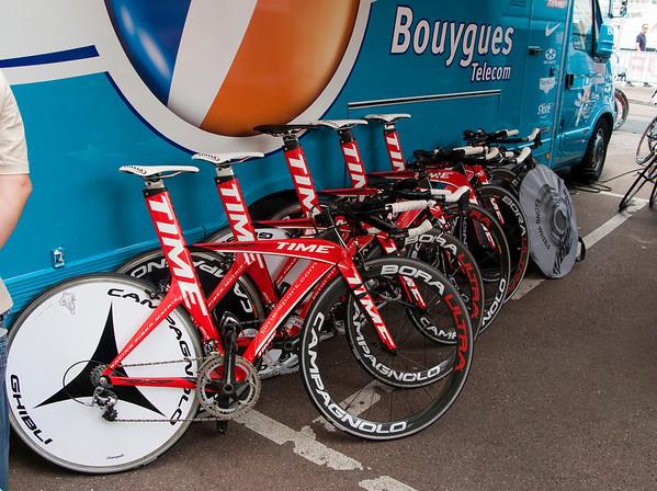 Time Timetrial bike fleet for Team Bouyges Telecom