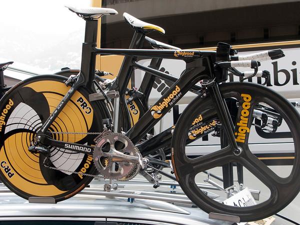 Columbia Highroad prototype time trial bikes
