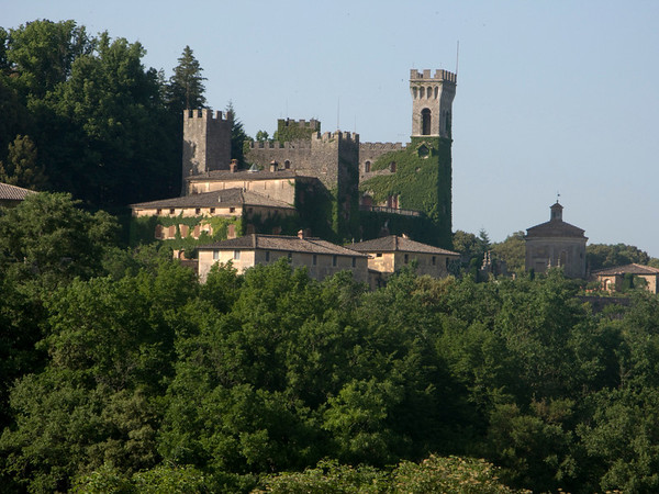 An unmarked castle on a ride outside Siena
