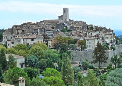 This is the lovely, medieval Saint-Paul-de-Vence near Antibes! It is for pedestrians only and is basically a tourist town with lots of art and artists. It's actually quite beautiful despite all the tourists!!