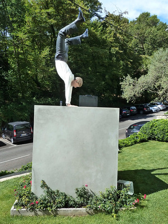 This photo is also for Niel!! It was a sculpture outside an art gallery close to Saint-Paul-de-Vence near Antibes! We immediately thought that this must have been how Niel felt when he recently got his TD Asset Management Job!!!