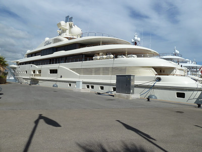 A private luxury yacht in the Antibes Harbor! No big deal, right?