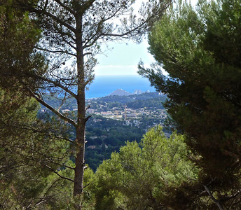 The view from the Maeght Foundation Museum across Antibes towrds the Meditarrenean Sea.