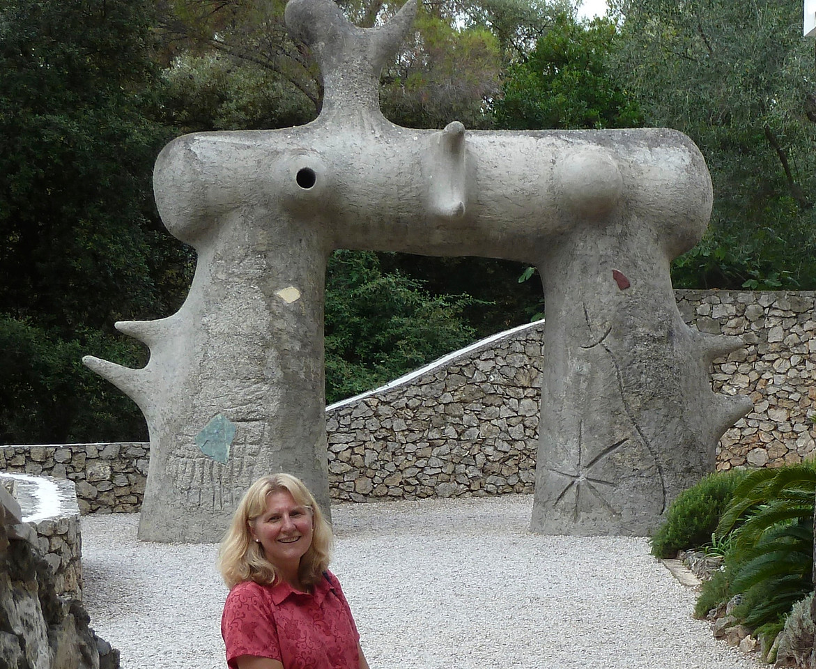 These are rather famous Miro sculptures at the Maeght Foundation Museum also close to Saint-Paul-de-Vence near Antibes.