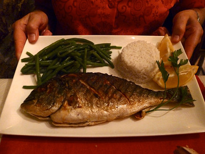 A typical Antibes fish meal!!