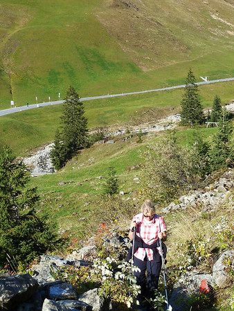 Hiking from Nesslegg to the Körbersee.