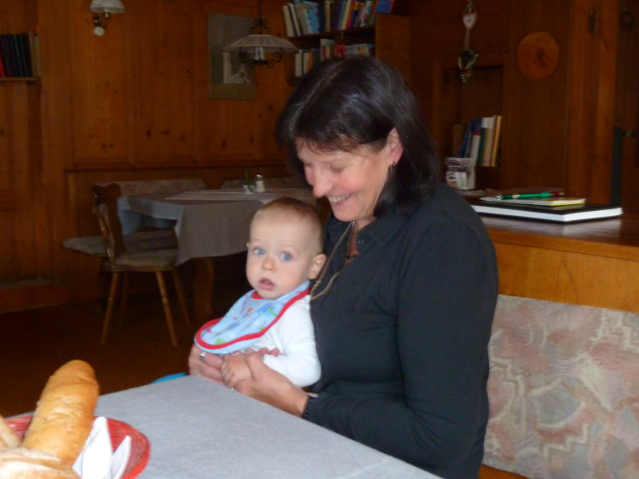 Renate with her grandson.