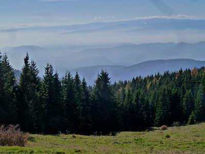 The stunning view from a hike just outside of Graz.